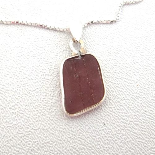 lavendar sea glass necklace 3