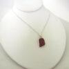 lavendar sea glass necklace 5