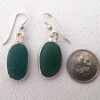 teal sea glass earrings 3