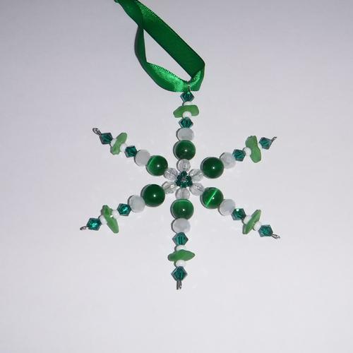 small green snowflake ornament 5