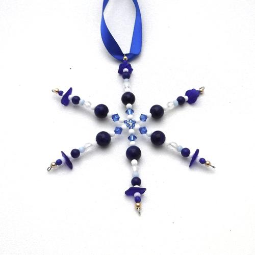 new large cobalt blue snowflake 1