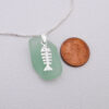 mint green sea glass necklace with bonefish 3