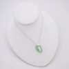 mint sea glass necklace with bonefish 5