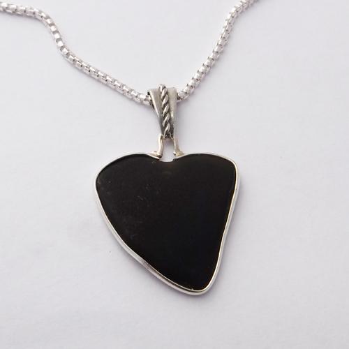 black sea glass necklace 1