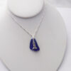 cobalt blue sea glass necklace with lighthouse 5