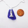 cobalt blue sea glass with lighthouse 3