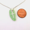lime green sea glass necklace 3