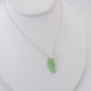 lime green sea glass necklace 5