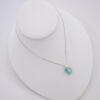 turquoise sea glass necklace with cross 1