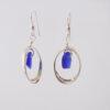 cobalt blue sea glass earrings 7